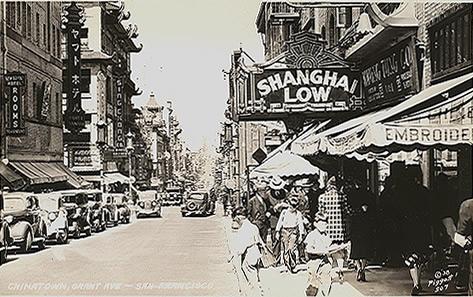 Chinatown, San Francisco, lata trzydzieste (pocztówka)