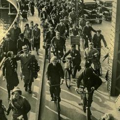 Kopenhaga - ruch uliczny - lata trzydzieste XX wieku