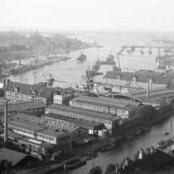 Kopenhaga - widok na port - lata trzydzieste XX wieku
