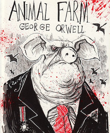 a representation of russia in the novel animal farm by george orwell Why did george orwell write animal farm from the time george orwell lived in the novel - 'animal farm russian revolution as an animal fable, george orwell.