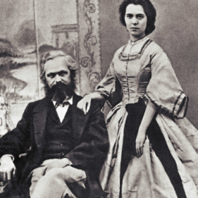 Karol Marks z żoną