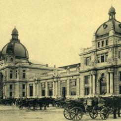 Dworzec kolejowy we Lwowie - pocztówka (około 1916 roku)