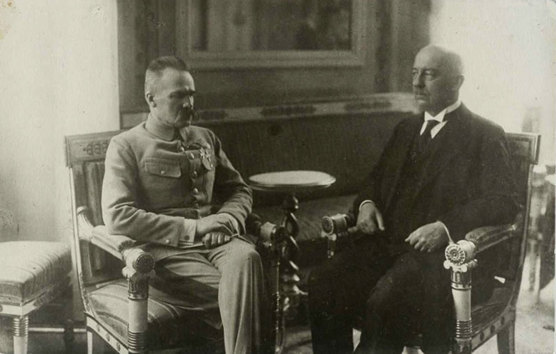 Józef Piłsudski i Gabriel Narutowicz