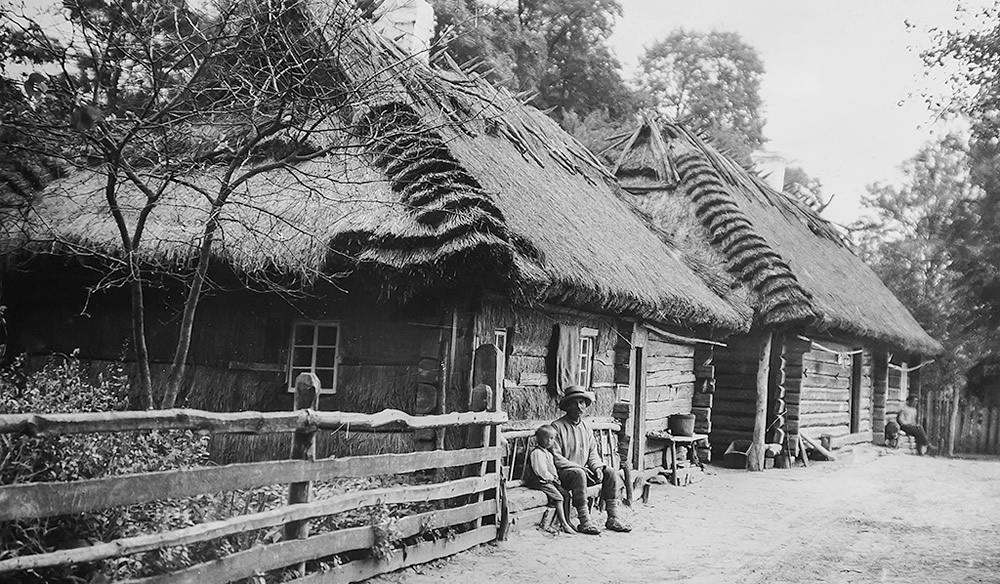 Wieś na Polesiu - lata trzydzieste XX wieku