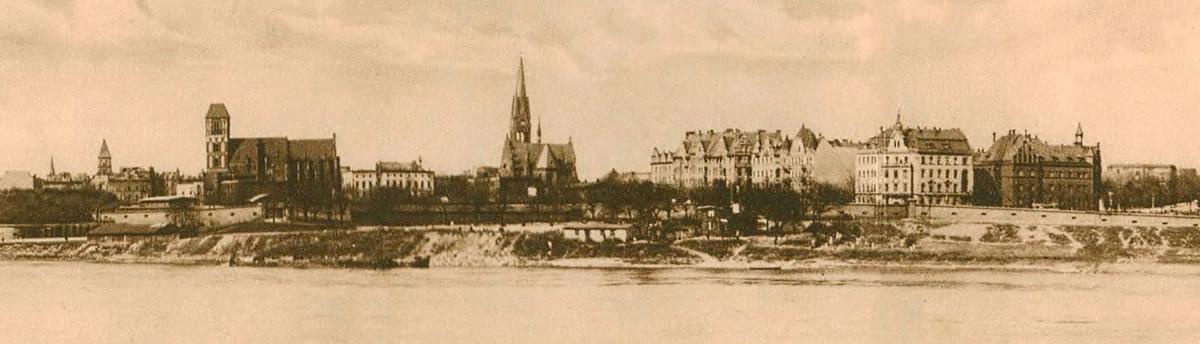 Panorama Torunia - początek XX wieku