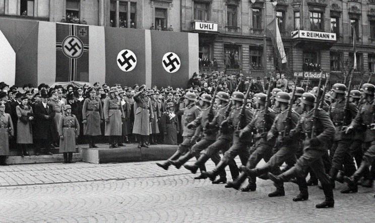 Defilada wojsk niemieckich w Pradze, marzec 1939 rok