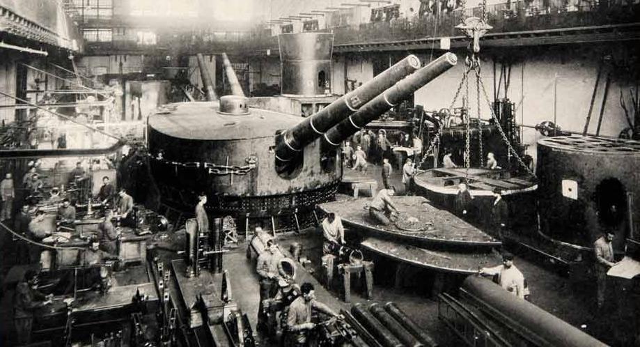 Fabryka Kruppa w Kilonii, 1914 rok