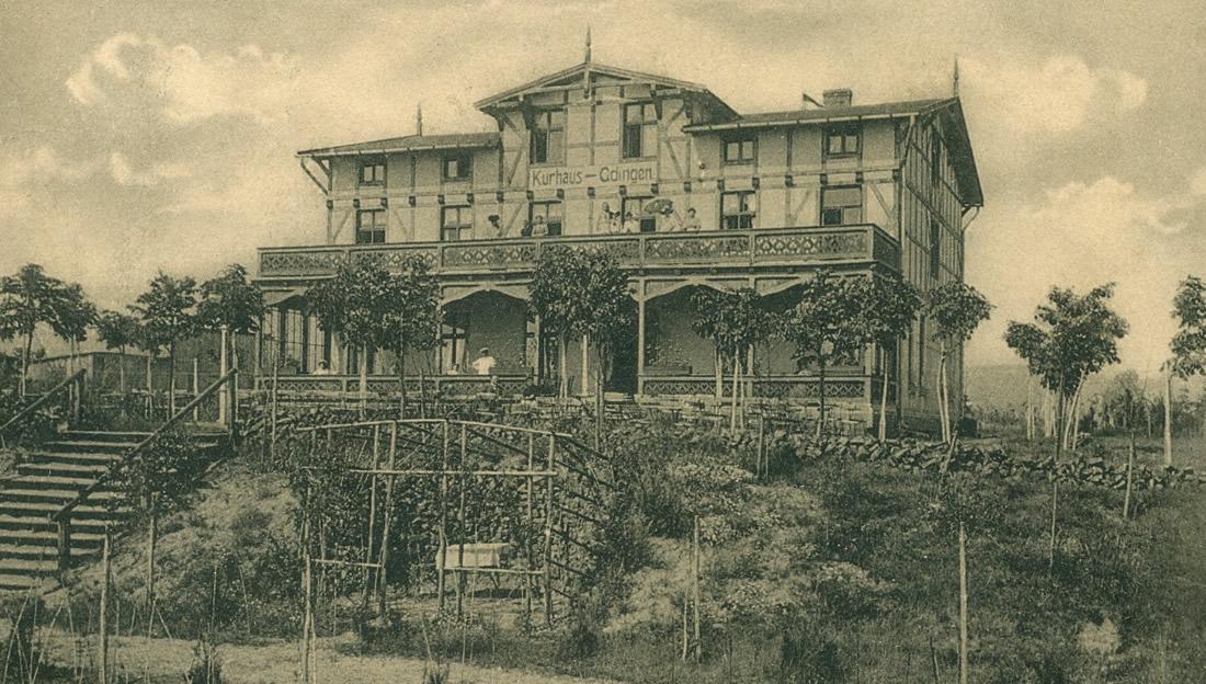 Dom Kuracyjny w Gdyni, 1910 rok (pocztówka)