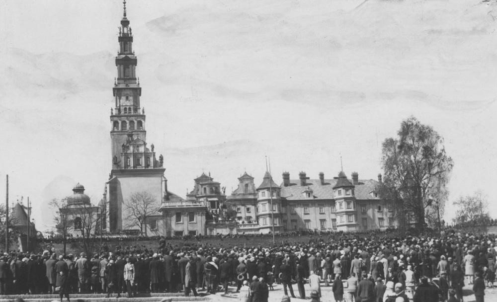 Błonia klasztoru jasnogórskiego = lata trzydzieste XX wieku (źródło: Narodowe Archiwum Cyfrowe)