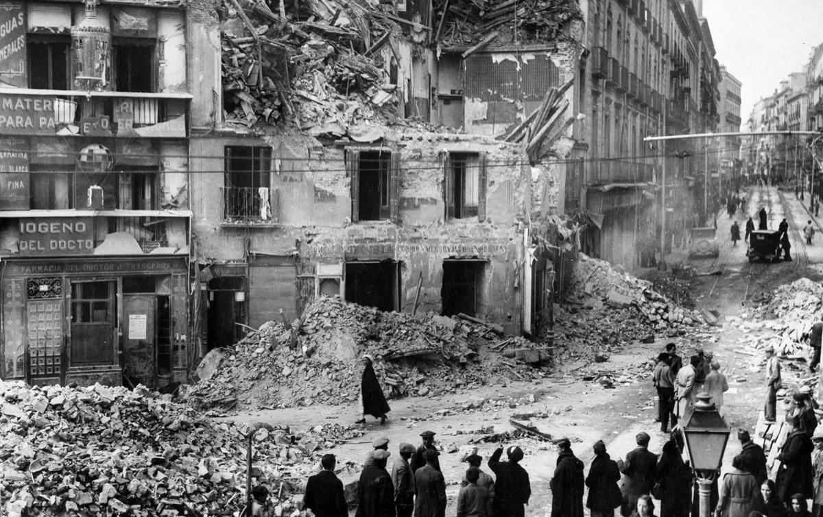 Zniszczenia Madrytu, 1936 rok (żródło: http://www.museoreinasofia.es)