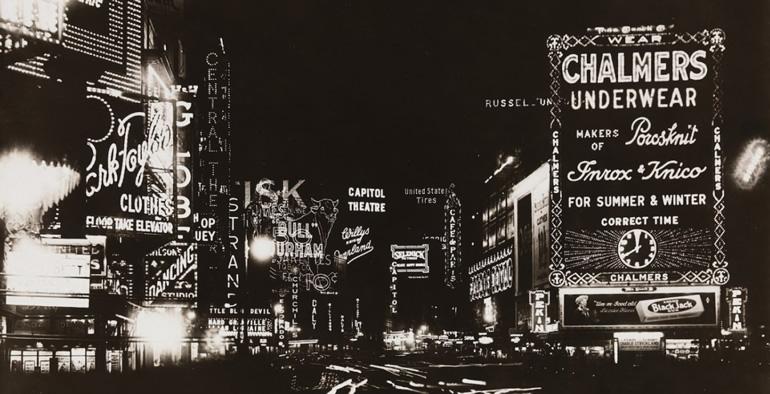 Broadway nocą - neony