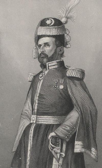 Michał Czajkowski vel Sadyk Pasza - staloryt, około 1857 roku (domena publiczna)