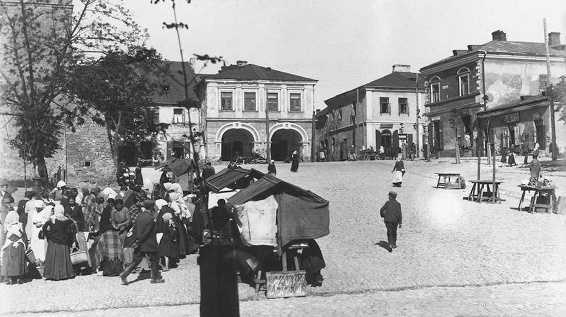 Rynek w Sandomierzu, lata dwudzieste XX wieku.