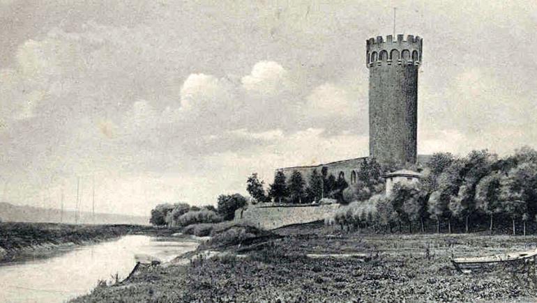 Świecie - ruiny zamku krzyżackiego - początek XX wieku (pocztówka)