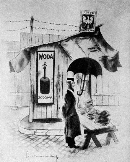 """NA WAŁÓWCE - """"Warszawa w karykaturze"""" Zdzisława Czermańskiego - Wiadomości Literackie nr 560 (12.08.1934)"""
