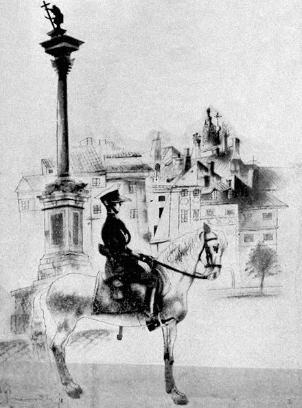 """PLAC ZAMKOWY - """"Warszawa w karykaturze"""" Zdzisława Czermańskiego - Wiadomości Literackie nr 560 (12.08.1934)"""