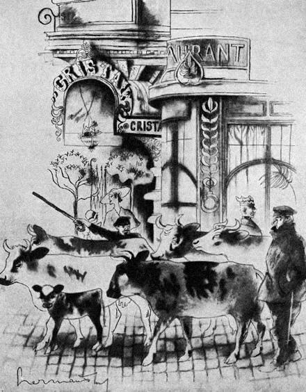 """ŚRÓDMIEŚCIE - """"Warszawa w karykaturze"""" Zdzisława Czermańskiego - Wiadomości Literackie nr 560 (12.08.1934)"""