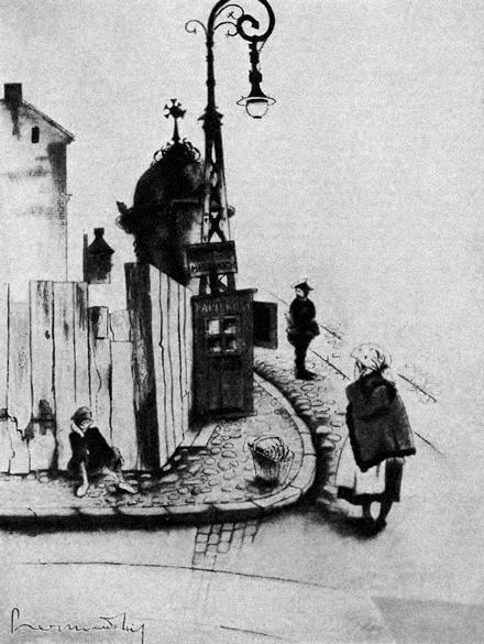 """PERYFERJE - """"Warszawa w karykaturze"""" Zdzisława Czermańskiego - Wiadomości Literackie nr 560 (12.08.1934)"""