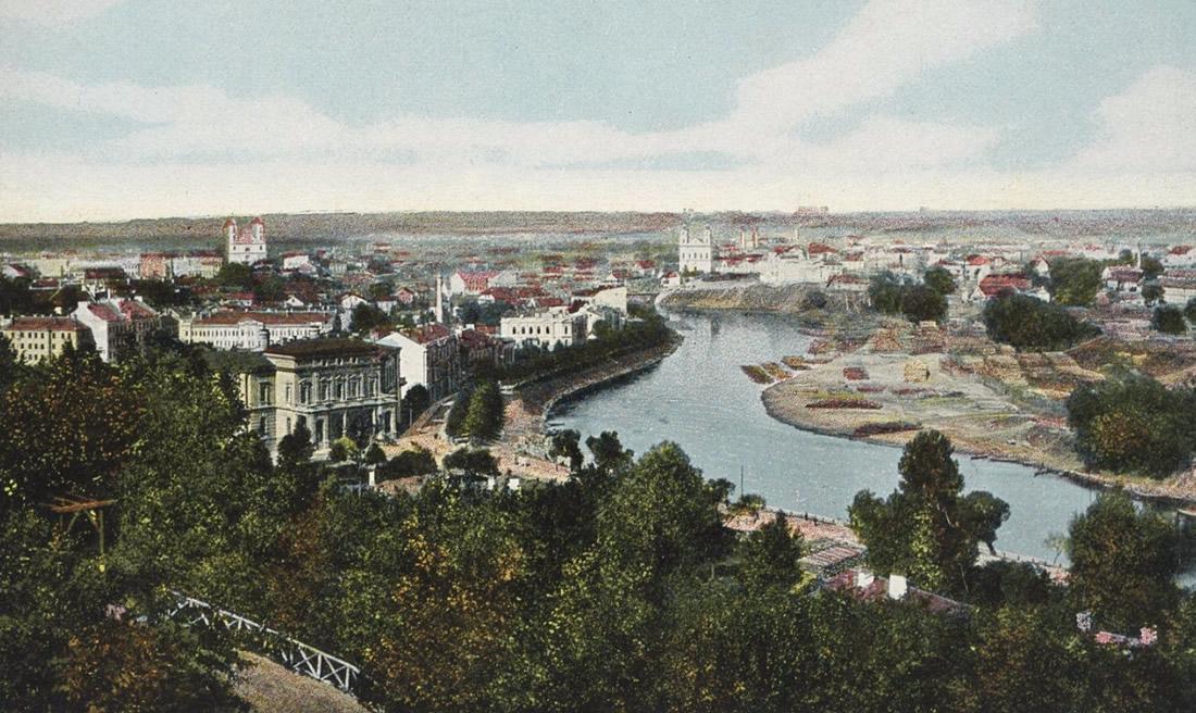 Panorama Wilna ok. 1914 roku (pocztówka)
