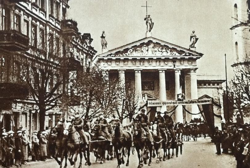 Wkroczenie wojsk litewskich do Wilna - X 1939 rok