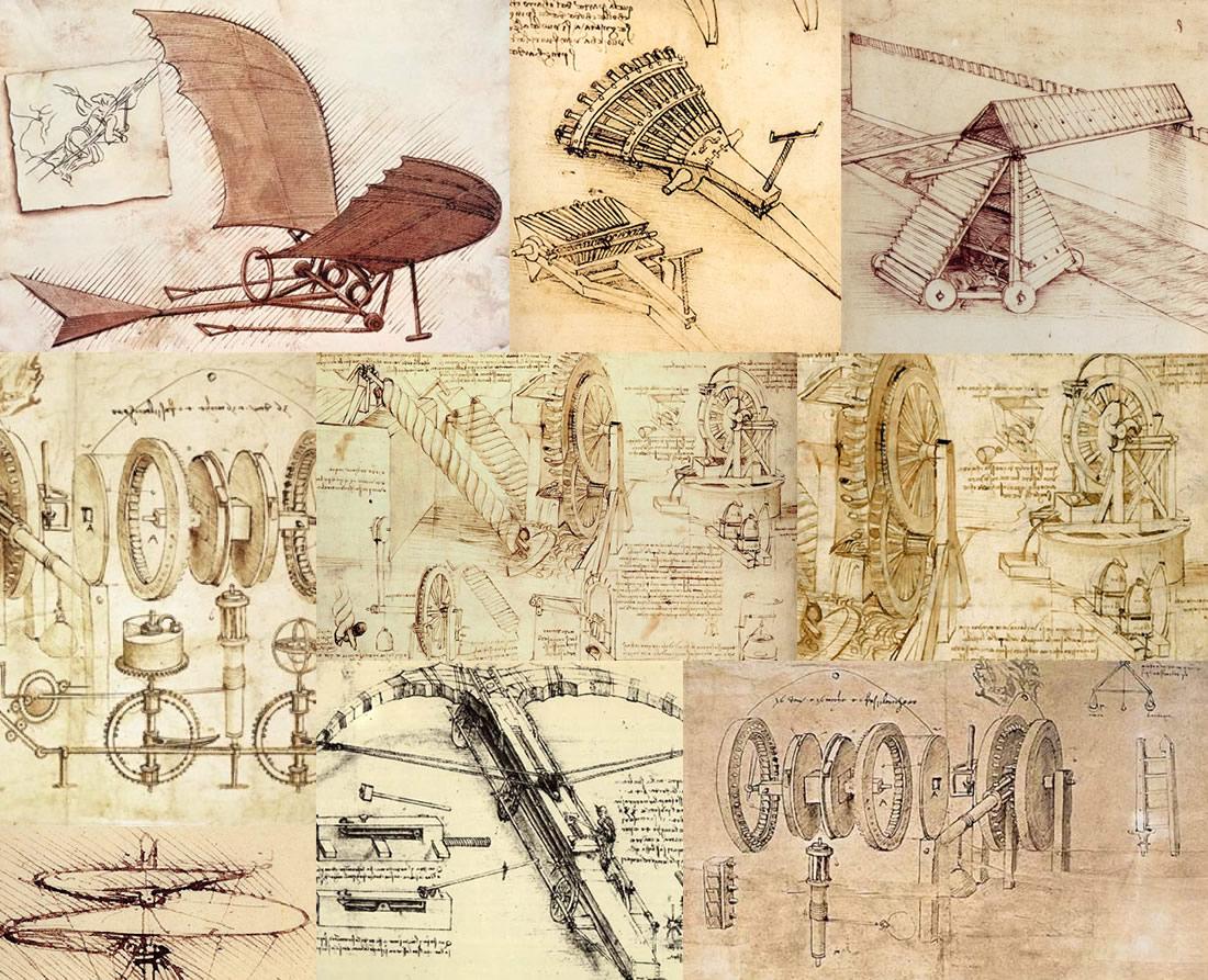 Rysunki projektów Leonardo da Vinci