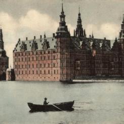 Zamek Frederiksborg, Dania - pocztówka z pocz. XX wieku